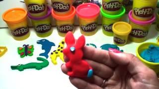 Пластилин Play Doh (Плей До)! Лепим зоопарк! Видео инструкция!(Пластилин... Сколько радости дарит он детям! Сколько забавных и интересных поделок можно вылепить с помощью..., 2014-08-26T13:49:49.000Z)