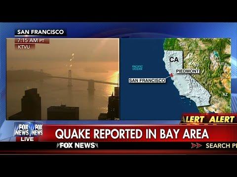 Earthquake : Magnitude 4.0 Earthquake strikes the San Francisco Bay Area (Aug 17, 2015)