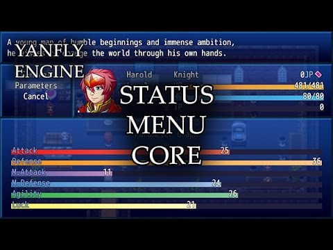 YEP 37 - Status Menu Core - RPG Maker MV