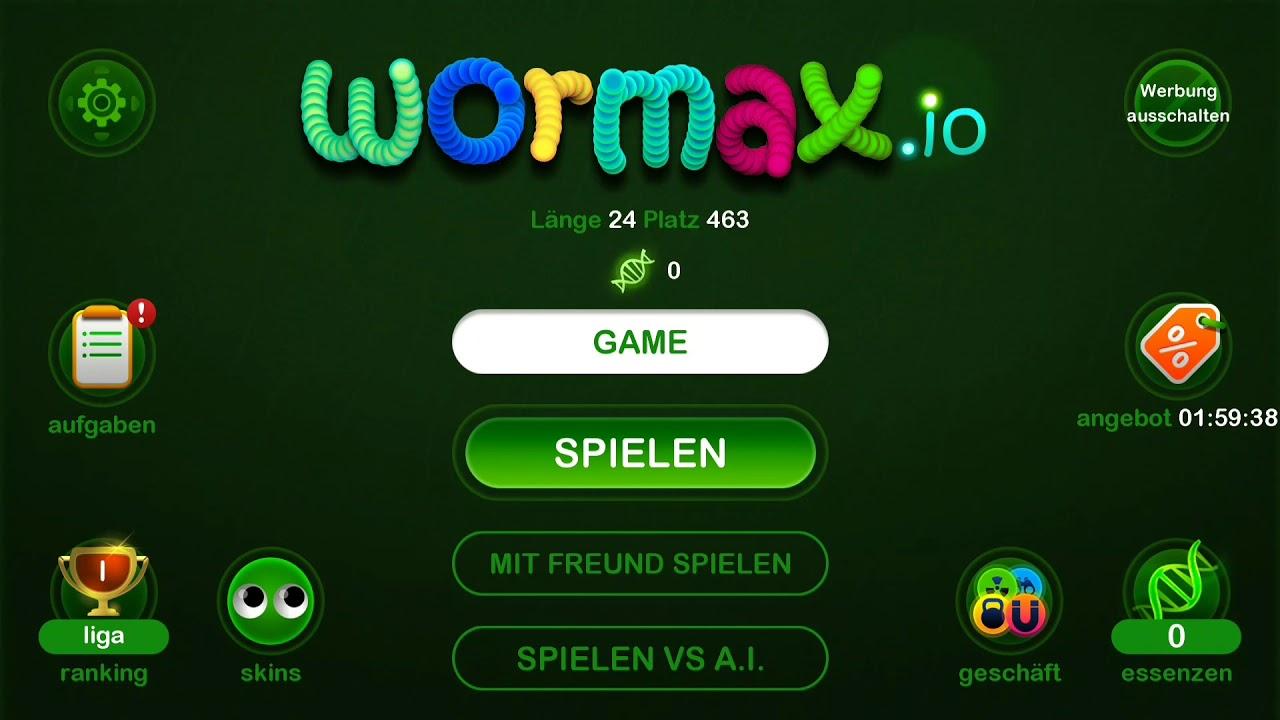 Wormax Spielen