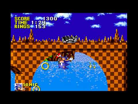 Sonic the Hedgehog Genesis (GBA): Green Hill Act 1 - Ring Attack (225 Rings)