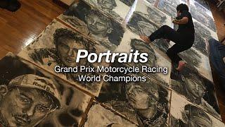 Motorcycle Art Part 96 / Portraits - GP Motorcycle Racing World Champions