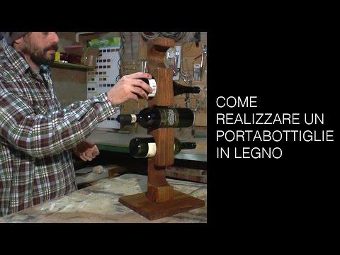 Portabottiglie in legno - Tutorial Riciclo creativo