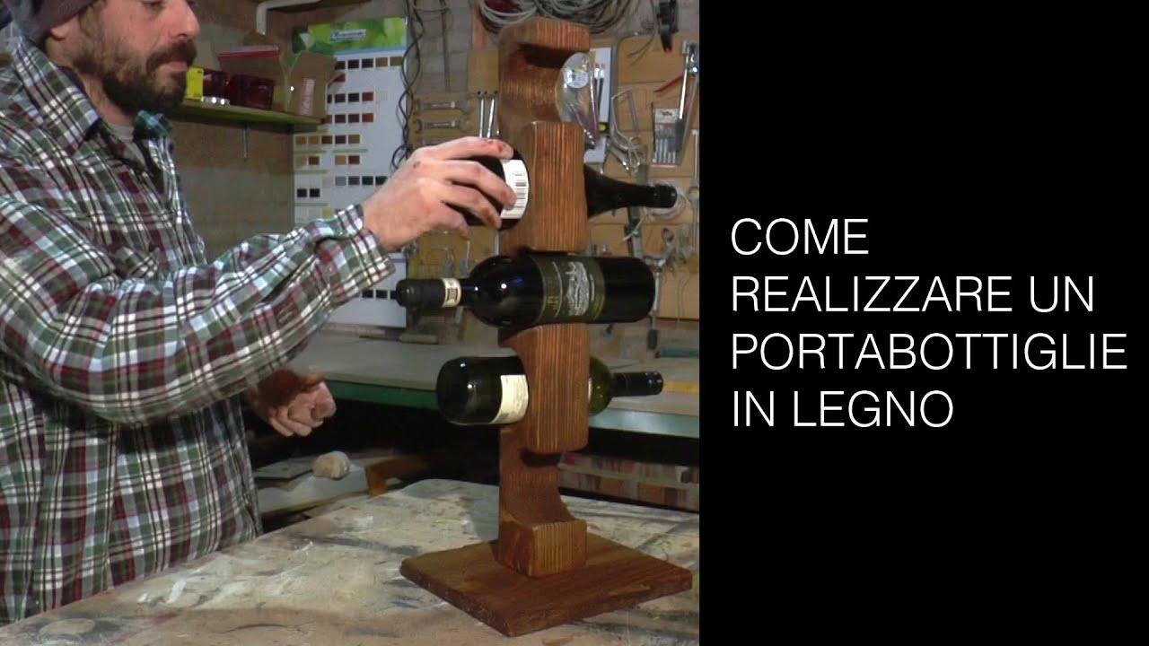 Portabottiglie in legno tutorial riciclo creativo youtube - Costruire un portabottiglie in legno ...