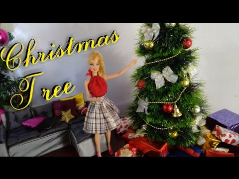 Barbie Christmas Tree Decorations.How To Make Christmas Tree For Barbie Monster High And Ever After High Dolls