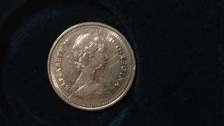 1986 Canada 25 Cent Coin