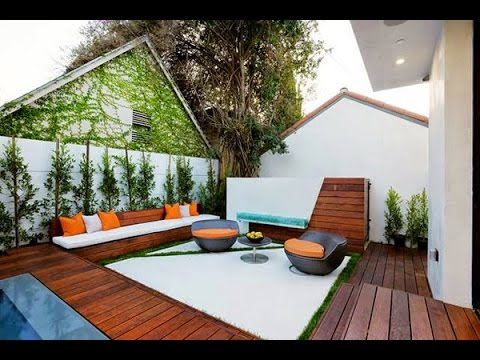 Decoraci n de jardines y patios modernos youtube for Carretillas de adorno para jardin