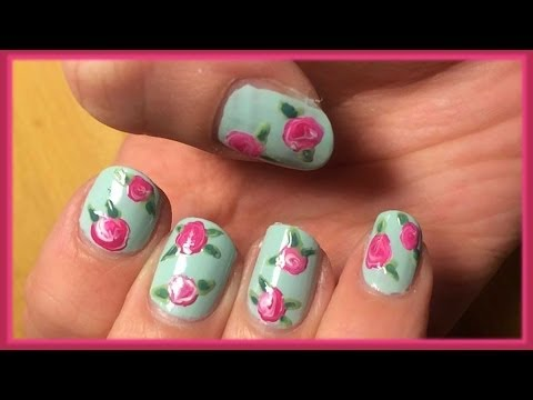 Nail art TUTORIAL 98 • Roselline