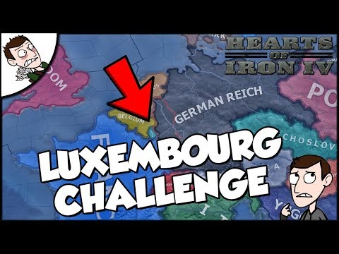 Hearts of Iron 4 HOI4 Democratic Luxembourg Challenge