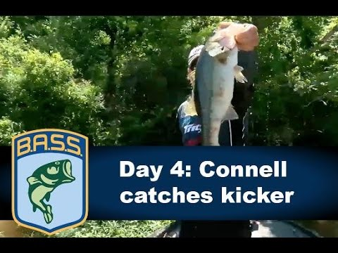 Dustin Connell catches a kicker bass on Championship Monday