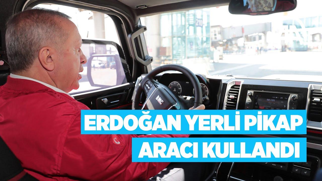 Cumhurbaşkanı Erdoğan yerli pikap aracı Tulga'yı kullandı