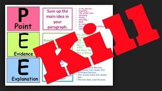 Get rid of PEE paragraphs and learn embedded quotations for Grade 9 GCSE Language