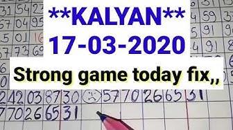 Kalyan matka **17-03-2020** strong game today // Kalyan satta matka bazaar