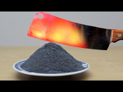 TOP 50 EXPERIMENTS Glowing 1000 degree KNIFE vs FIRECRACKERS, GUNPOWDER, LIGHTERS and More!