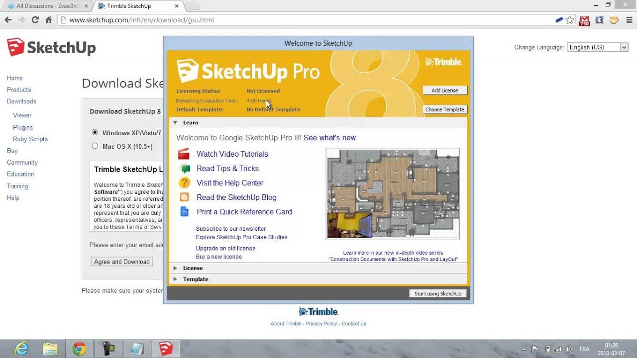 telecharger google sketchup 8 pro gratuit en francais