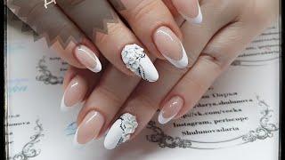 Нежный дизайн ногтей  Дизайн для невесты