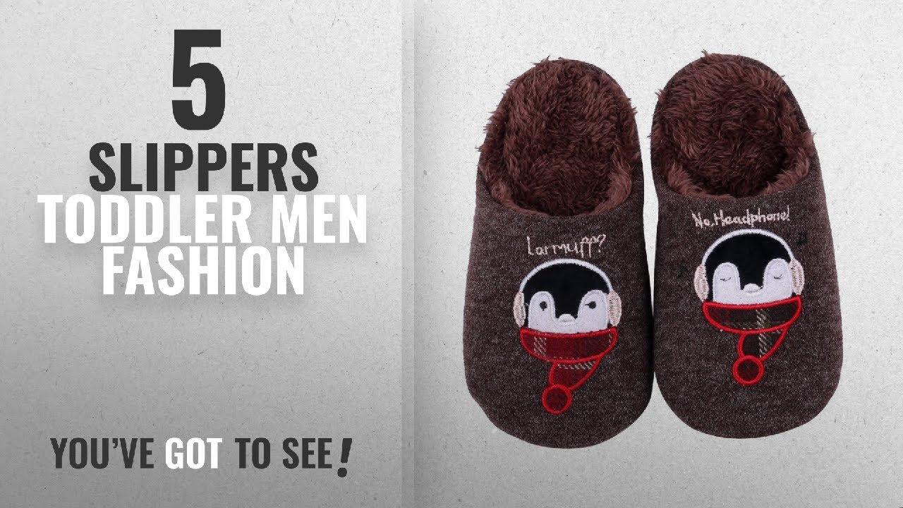 Top 10 Slippers Toddler [Men Fashion Winter 2018 ]: Shevalues Cute House Slippers Dog Penguin Animal 1