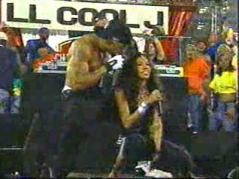2002 AFC Title Game Halftime Show- LLCool J and A Marie