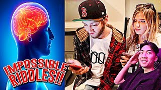 ASKING MY ROOMMATES IMPOSSIBLE RIDDLES!!