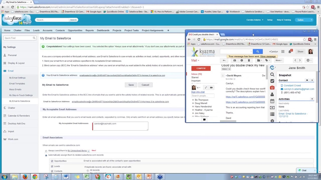 How to Create Email Integration In Salesforce