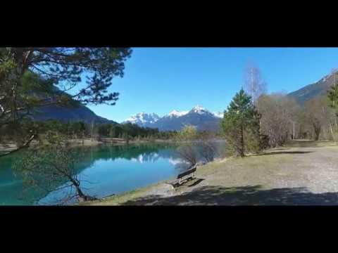 Lechtal / Tirol - Baggersee Weißenbach am Lech, Awesome Aerial Shots - DJI Phantom 4
