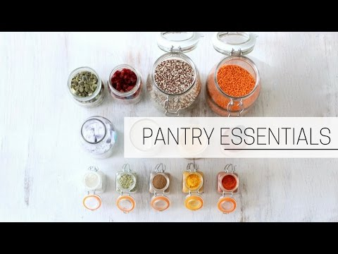PANTRY ESSENTIALS » + printable grocery shopping list