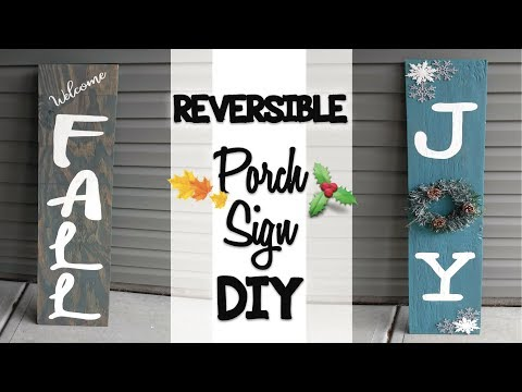 Reversible Porch Sign DIY | Craft with me | Fall 2018
