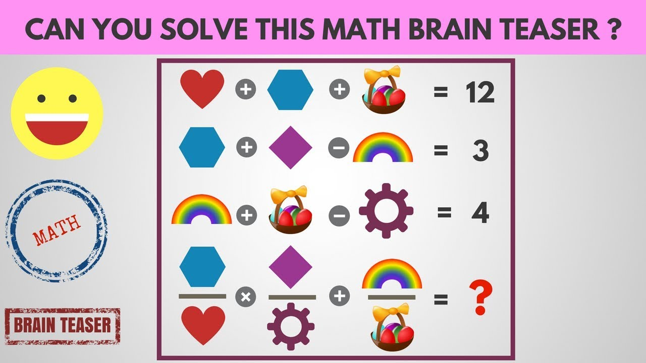 Can you Solve this Math Brain teaser? | Maths Puzzles with Answers for  whatsapp | Funny Game Video