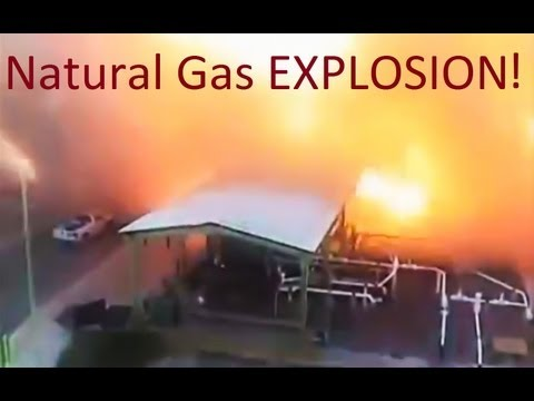 SLOW MOTION - Massive Explosion - Natural Gas Plant