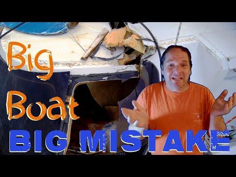 9 Big Mistake!! Salvage Catamaran Fiberglass Repair.