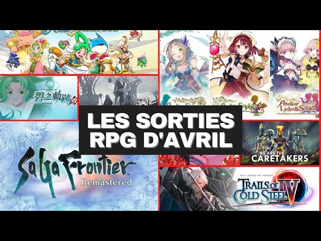 Les sorties RPG du mois d'AVRIL - SAGA FRONTIER REMASTERED, WONDERBOY : ASHA IN MONSTER WORLD...
