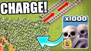 1000 SKELETONS SWARM THE NEVER ENDING SPIRAL!! WHAT HAPPENS NEXT!   Clash Of Clans!!
