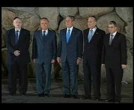 President George W. Bush Visits Yad Vashem