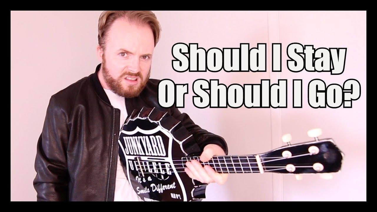 should i stay or should i go stranger things the clash ukulele tutorial youtube. Black Bedroom Furniture Sets. Home Design Ideas