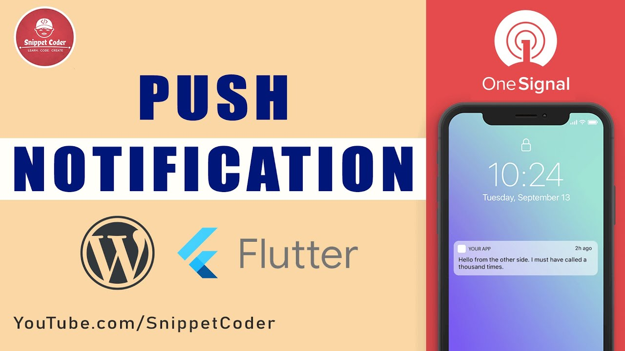 🔥 Push Notification with Flutter & OneSignal 🔥