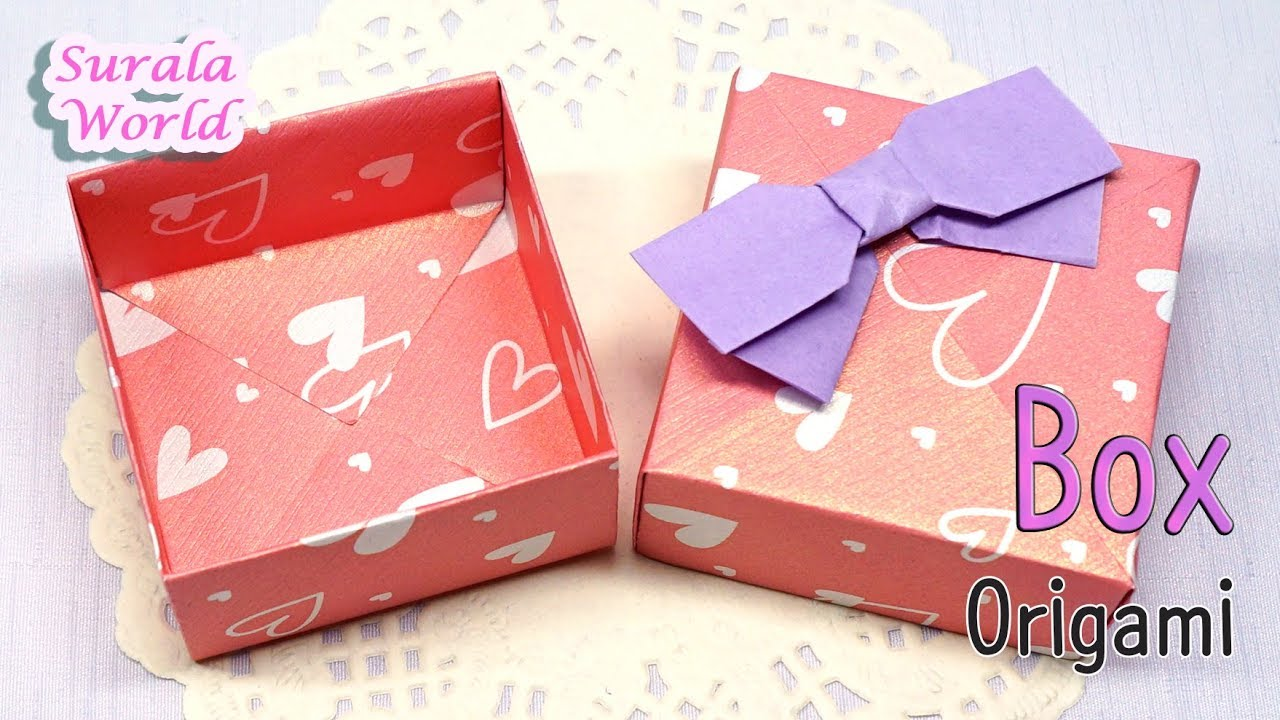 Origami - Gift Box (Box & Lid, How to make a Paper Box) - YouTube