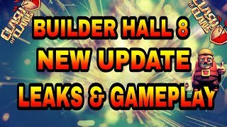 Clash of clans builder hall 8 update leaks and gameplay|bh8||new defence|super pekka|mega tesla|dec
