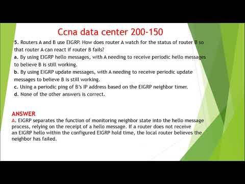 اسئلة واجوبة ccna data center 200- 150 chapter17+18+19