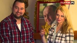 Jan Kuroń z żonąo świętach Bożego Narodzenia