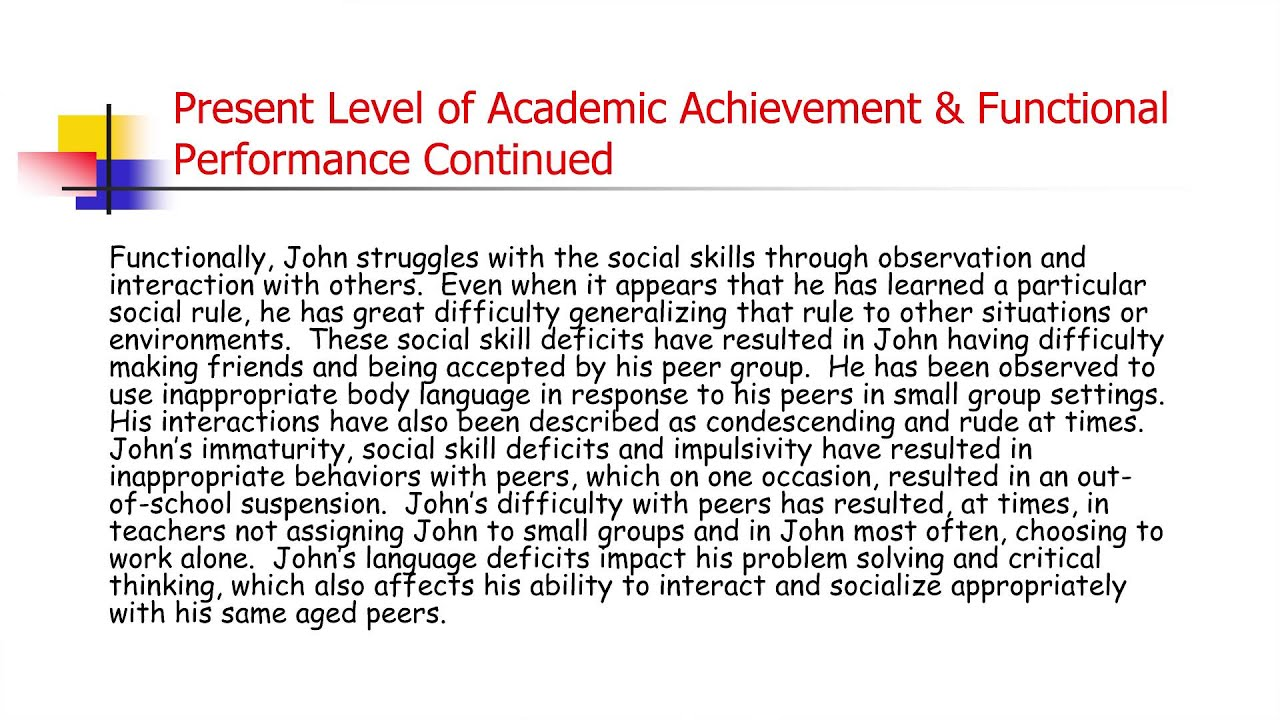 academic achievments Academic achievement or (academic) performance is the extent to which a student now, schools are receiving money based on its students academic achievements.