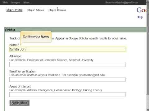 How to use Google Scholar Citations - YouTube