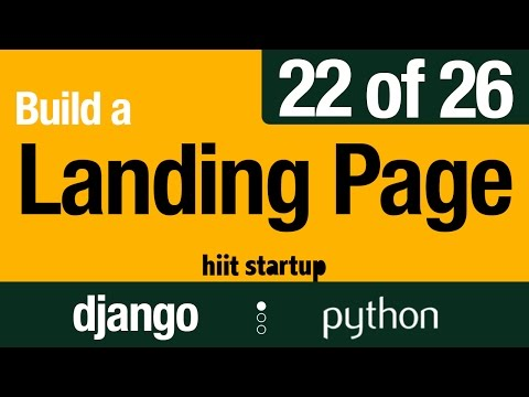 22 of 26 | Error Pages & Leave Capture | Hiit Startup | Django Tutorial