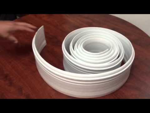 Flexible White 5 Quot 1 4 Inch Baseboards 12ft Roll Youtube