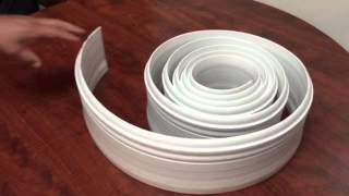 "Flexible White 5"" 1/4 Inch Baseboards – 12ft Roll"
