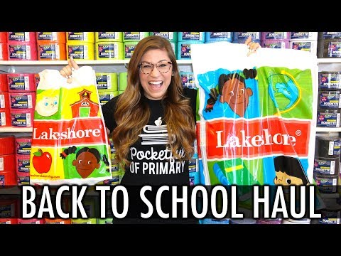 BACK TO SCHOOL HAUL  - Lakeshore Learning | Pocketful of Primary