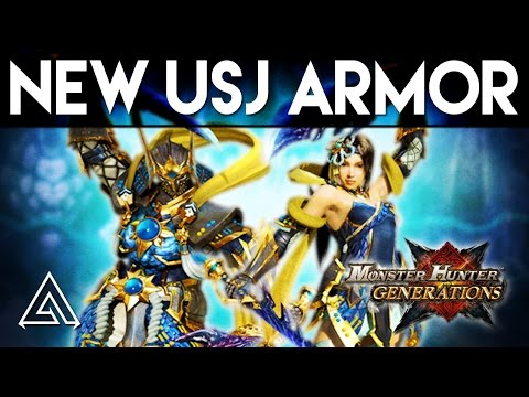 Monster Hunter Generations | NEW USJ DLC Armour Set