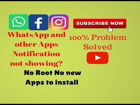 Whatsapp notification problem English! 100% Solved