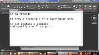 How to draw a rectangle of any size in Autocad