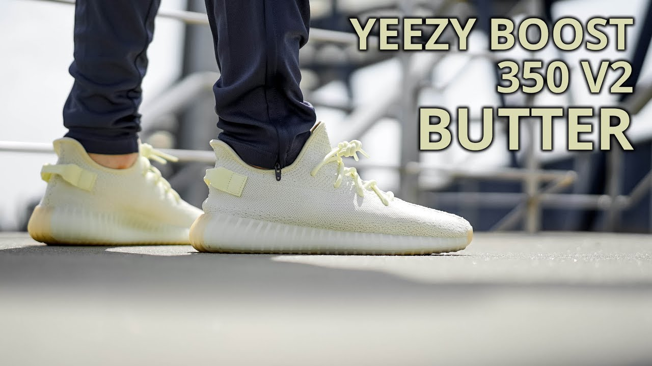 8ea23f75 YEEZY BOOST 350 V2 BUTTER REVIEW UNBOXING & WHERE TO BUY - YouTube