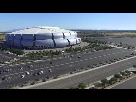 University of Phoenix Super Bowl XLIX Stadium, Glendale, AZ from DJI Phantom 3 Professional